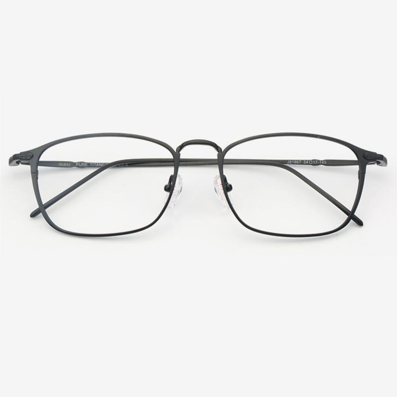 HAN J81867A 纯钛光学眼镜架+依视路 钻晶A3系列 1.56非球面镜片