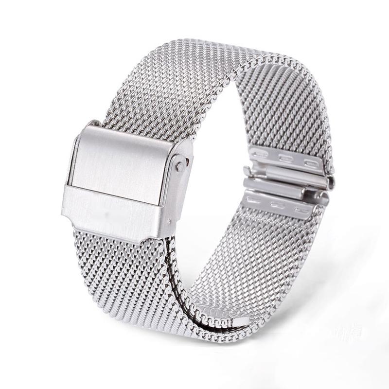 DARKRUSH 金属表带 银白色双扣 12-22mm 赠拆装工具